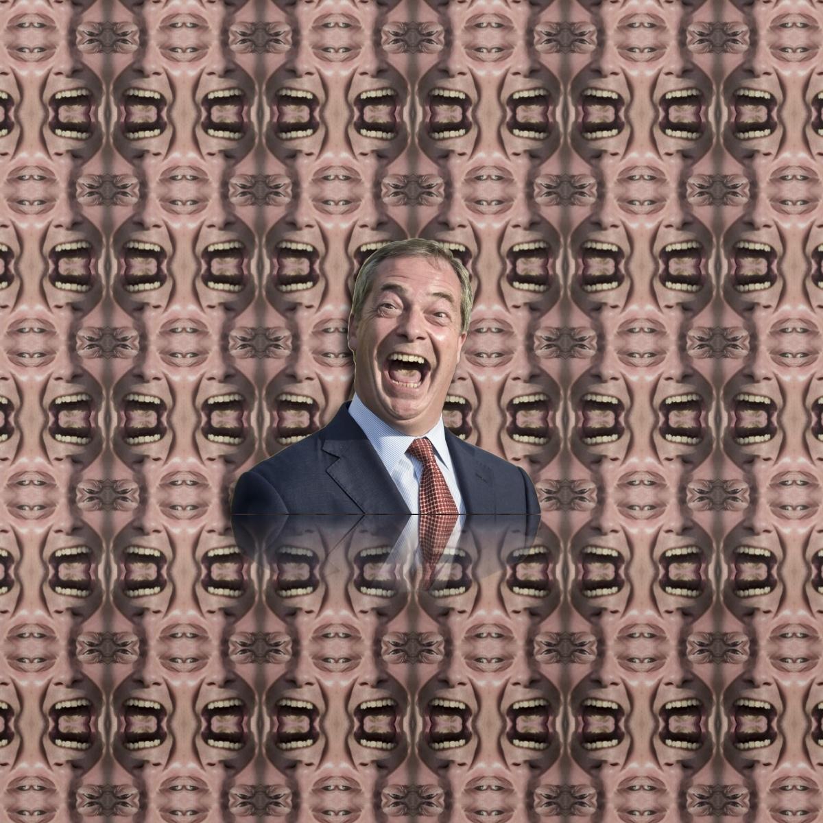 Nigel Farage psychedelic nightmare