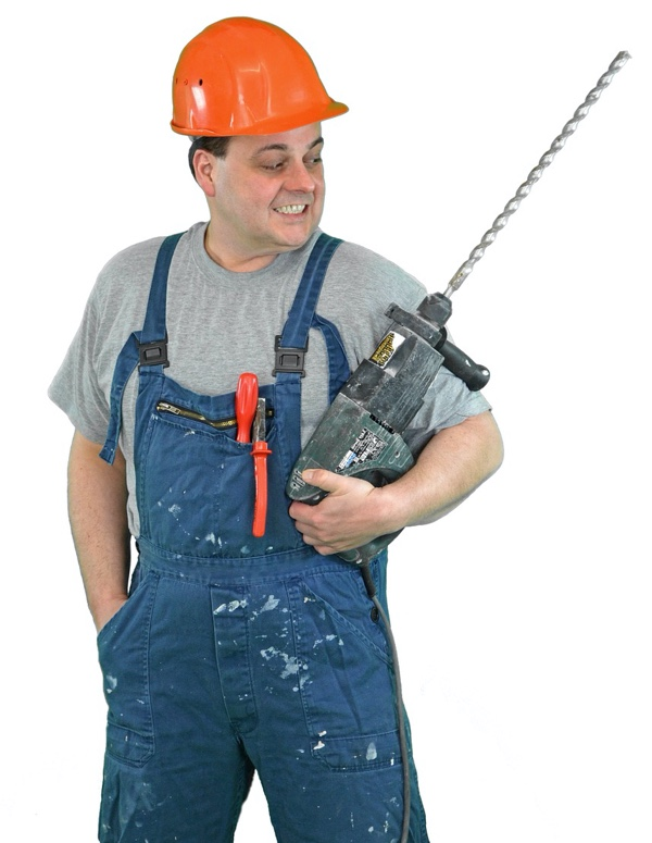 Construction worker, diy, with tool