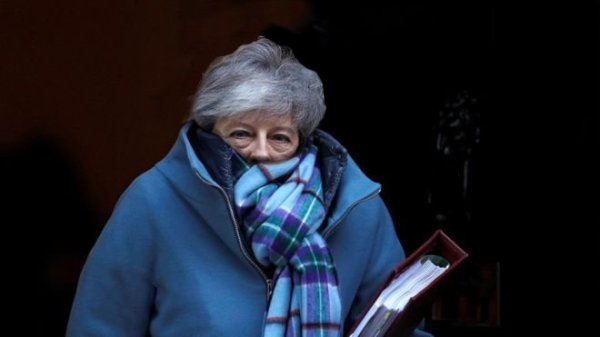 Theresa May in a scarf
