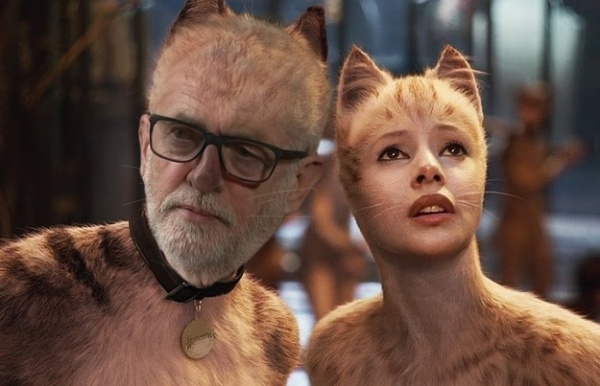 Jeremy Corbyn in the Cats movie