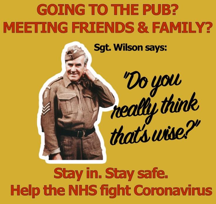 Dad's Army CoronaVirus Poster - Sgt Wilson